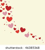 hearts background vector | Shutterstock .eps vector #46385368