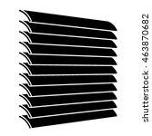 venetian blinds black symbol... | Shutterstock .eps vector #463870682