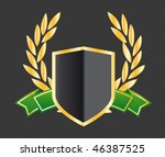 shield with ribbons and laurels | Shutterstock .eps vector #46387525