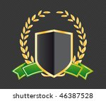 shield with ribbons and laurels | Shutterstock .eps vector #46387528