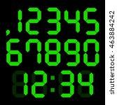 set of digital numbers | Shutterstock .eps vector #463884242