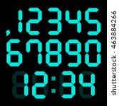 set of digital numbers | Shutterstock .eps vector #463884266