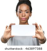 African American Woman Holding...
