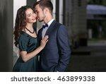 elegant couple  outdoor | Shutterstock . vector #463899338