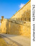 Small photo of ACRE, ISRAEL - AUGUST 03, 2016: View of the land walls of the old city of Acre, Israel
