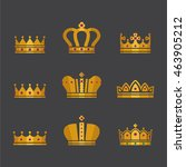 icons of different crowns | Shutterstock .eps vector #463905212