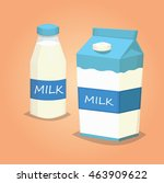 milk cartoon vector illustration | Shutterstock .eps vector #463909622