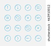 application blue line icons... | Shutterstock .eps vector #463910012