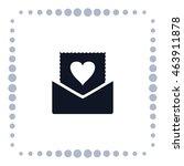 love message icon  vector design | Shutterstock .eps vector #463911878