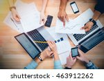 team of colleagues working for... | Shutterstock . vector #463912262