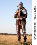 medieval knight in the field... | Shutterstock . vector #46391251