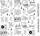 collection stock music object... | Shutterstock .eps vector #463914692