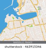 vector color map of marseille ... | Shutterstock .eps vector #463915346