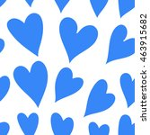 light blue hearts on a white... | Shutterstock .eps vector #463915682