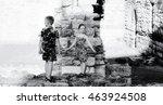 Boy And Girl Standing Among The ...