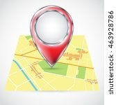 location icons on the map.... | Shutterstock .eps vector #463928786
