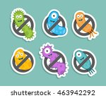 antibacterial sign with... | Shutterstock .eps vector #463942292