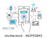 iot line illustration | Shutterstock .eps vector #463953842