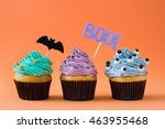 Halloween Cupcakes On Orange...