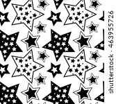 black and white pattern with... | Shutterstock .eps vector #463955726