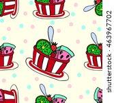 vector pattern dessert... | Shutterstock .eps vector #463967702