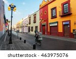 morning streets of puebla   the ... | Shutterstock . vector #463975076