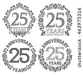 twenty fifth anniversary... | Shutterstock .eps vector #463975316