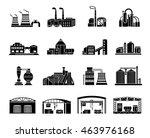 set of factory building ... | Shutterstock . vector #463976168