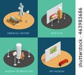 museum 2x2 compositions... | Shutterstock .eps vector #463983686