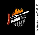 barbecue party logo | Shutterstock .eps vector #463987115