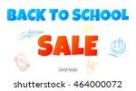 back to school web banner | Shutterstock .eps vector #464000072