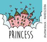 magic fairy tale princess... | Shutterstock .eps vector #464012336
