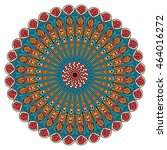 colorful round ethnic pattern.... | Shutterstock .eps vector #464016272