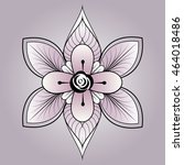 rounded ornament elements.... | Shutterstock .eps vector #464018486