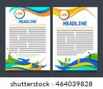 creative two page brochure ... | Shutterstock .eps vector #464039828