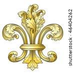 Gold Fleur De Lys Vector