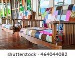 wooden swinging bench   wooden... | Shutterstock . vector #464044082