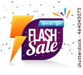 special offer  flash sale... | Shutterstock .eps vector #464045075