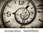 twisted clock face close up.... | Shutterstock . vector #464049602