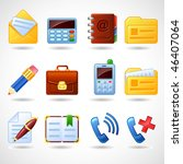 vector web icons | Shutterstock .eps vector #46407064