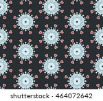 vector seamless background with ... | Shutterstock .eps vector #464072642