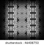 black arabesque background - stock photo
