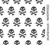 doodle style pirate skull and... | Shutterstock . vector #464095502