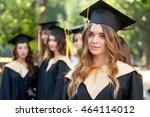 pretty female college graduate... | Shutterstock . vector #464114012