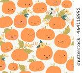 vector seamless autumn pattern... | Shutterstock .eps vector #464118992