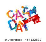 cat day. august 8 holiday | Shutterstock .eps vector #464122832