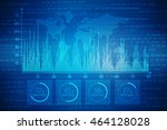 2d illustration business graph... | Shutterstock . vector #464128028