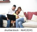 parents whit son look in... | Shutterstock . vector #46413241