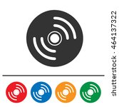 cd vector icon set. compact... | Shutterstock .eps vector #464137322