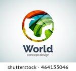 earth logo template  abstract... | Shutterstock .eps vector #464155046
